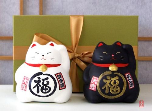 qua tang may man - Ý Nghĩa Mèo Thần Tài - Mèo May Mắn - Mèo Maneki Neko Nhật Bản