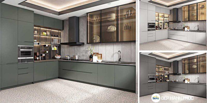 Top 5 mẫu kệ tủ bếp căn hộ chung cư đẹp, được yêu thích 5