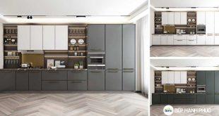 Top 5 mẫu kệ tủ bếp căn hộ chung cư đẹp, được yêu thích 7