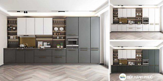 Top 5 mẫu kệ tủ bếp căn hộ chung cư đẹp, được yêu thích 70