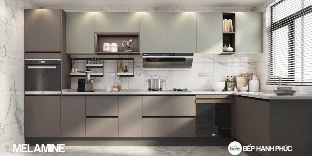 Top 5 mẫu kệ tủ bếp căn hộ chung cư đẹp, được yêu thích 2