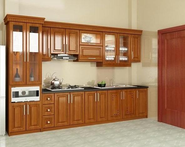 Top 5 mẫu kệ tủ bếp gỗ gõ đỏ đẹp, bền được mua nhiều hiện nay 1