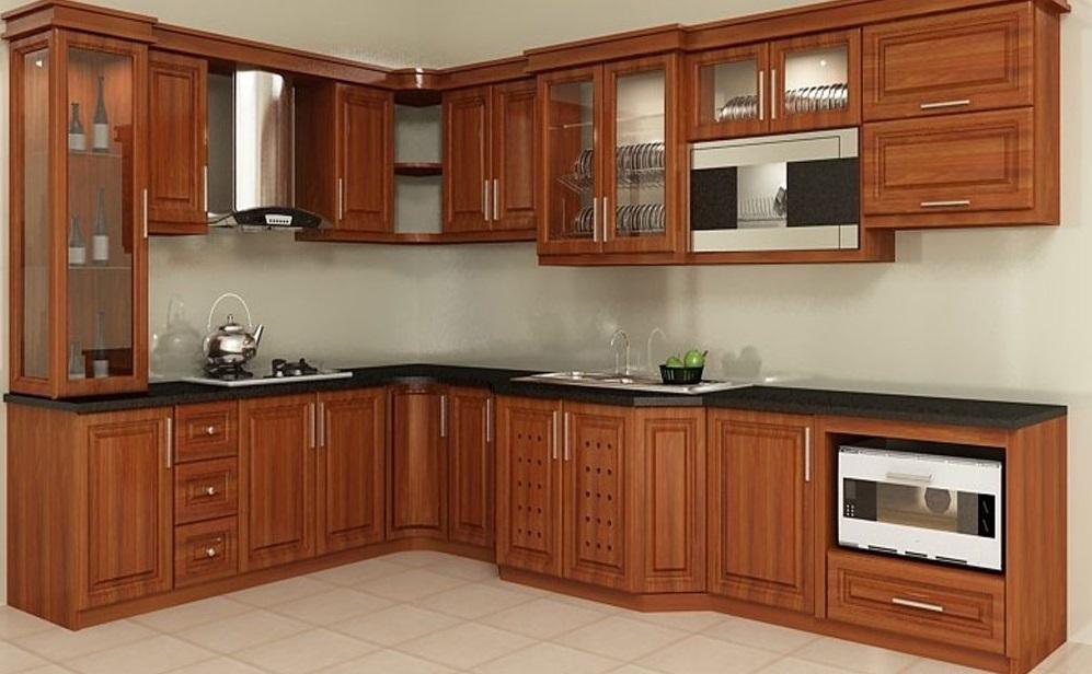 Top 5 mẫu kệ tủ bếp gỗ gõ đỏ đẹp, bền được mua nhiều hiện nay 2