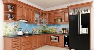 Top 5 Mẫu Kệ Tủ Bếp Gỗ Xoan Đào Đẹp, Bền 9