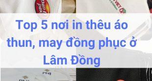 Địa chỉ may, in thêu đồng phục áo thun ở Lâm Đồng