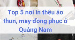 Địa chỉ may, in thêu đồng phục áo thun ở Quảng Nam