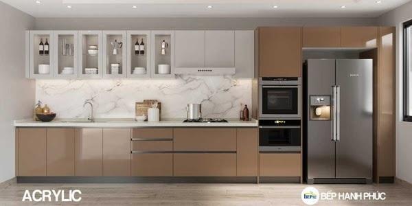 Tủ bếp Acrylic là gì? Mẫu tủ bếp Acrylic đẹp ấn tượng 1