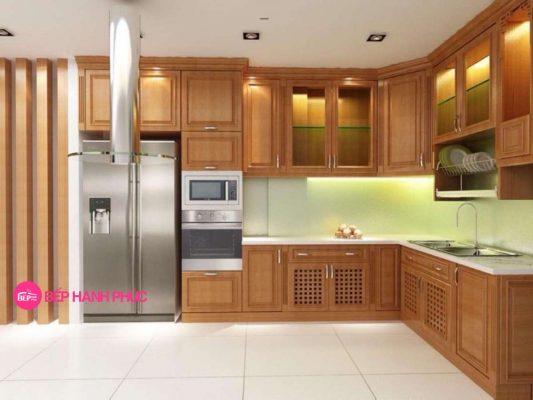 5 mẫu tủ bếp đẹp cho không gian rộng 4