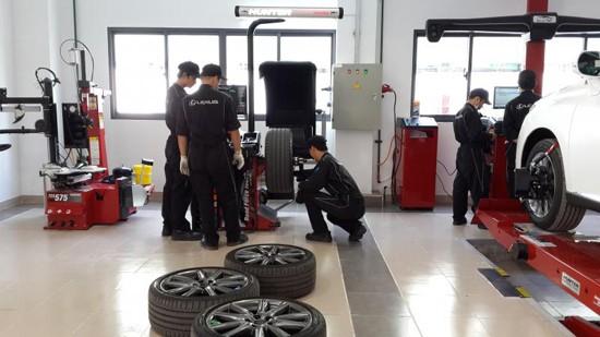 Dịch vụ cân chỉnh cụm bánh xe uy tín tại HCM